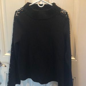 NWT Anthropologie crochet arm sweater Large LOVE!